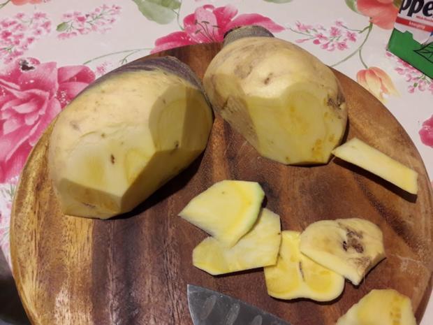 Süßkartoffelpüree mit Steckrüben Schnitzel - Rezept - Bild Nr. 7