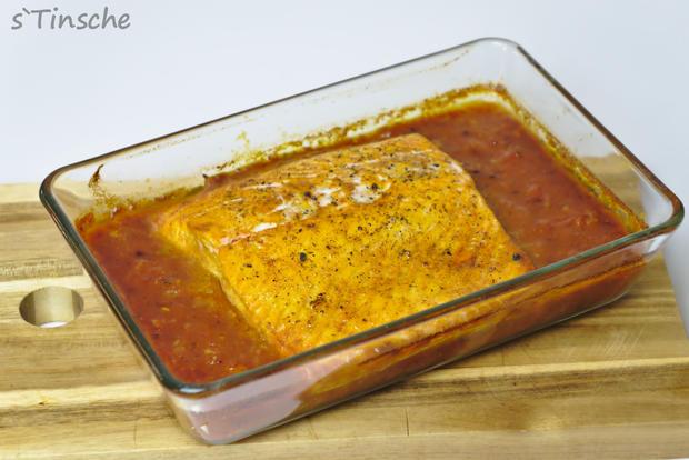Tomaten-Ofen-Lachs mit Kokosreis - Rezept - Bild Nr. 3