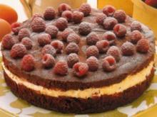 Schoko - Torte mit Himbeeren - Rezept