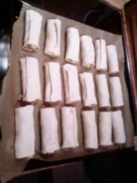 Blätterteig gefüllt mit Hackfleisch und Morzarella Käse - Rezept