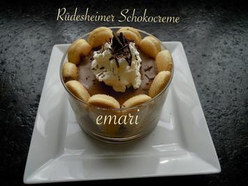 Rezept: Rüdesheimer Schokocreme  - Wir bauen uns ein Rezept: Nr 3