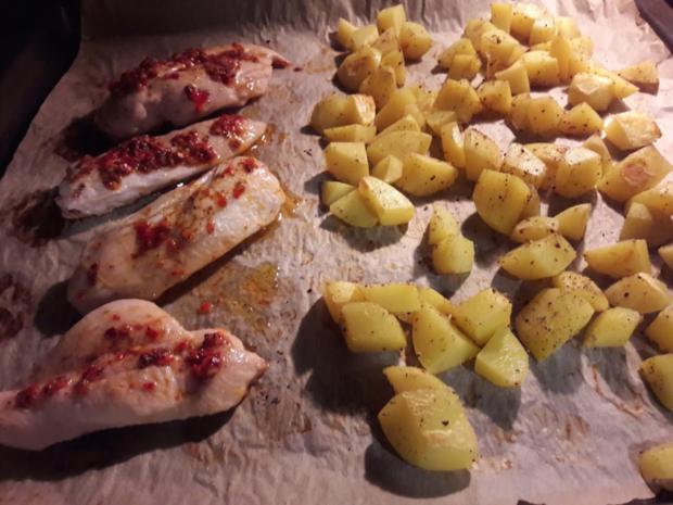 Hähnchenbrust mit Kartoffelwürfel - Rezept - Bild Nr. 11