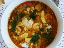 Chinesische Hühnersuppe mit Ei und Mungokeimlingen - Rezept - Bild Nr. 2
