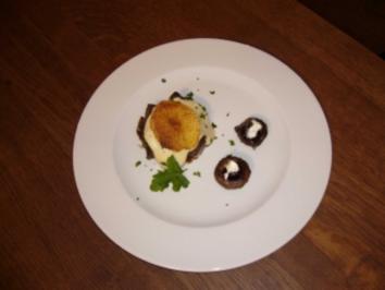 Hirschkompott mit Kartoffel-Sellerie-Hut an Kartoffelchips - Rezept