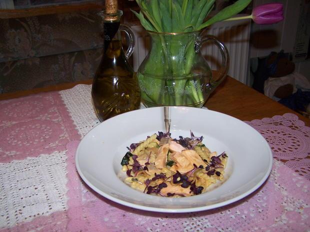 Lachs-Gemüse-Nudel Pfanne - Rezept - Bild Nr. 9934