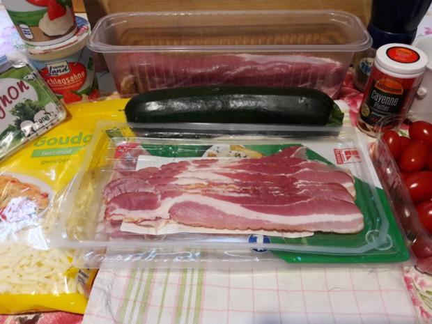 Zucchini und Schweinefilet im Speckmantel - Rezept - Bild Nr. 9936