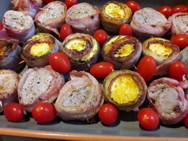 Zucchini und Schweinefilet im Speckmantel - Rezept - Bild Nr. 9942
