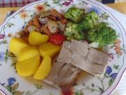 Schweinenackenbraten mit Brokkoli und Kartoffeln - Rezept - Bild Nr. 2