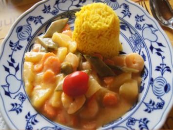 Garnelencurry mit Gemüse und Basmatireis - Rezept - Bild Nr. 2