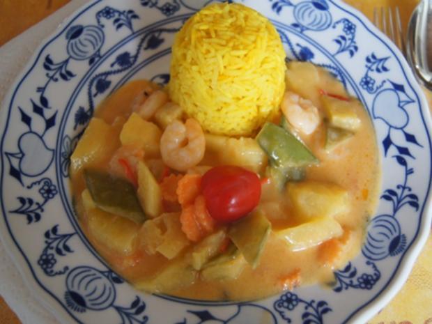 Garnelencurry mit Gemüse und Basmatireis - Rezept - Bild Nr. 17