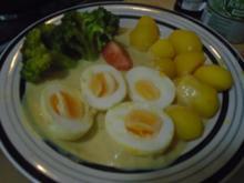 Eier in Senfsauce, Brokkoli und Drillingen - Rezept - Bild Nr. 2