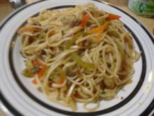 Mie-Nudeln mit Hackfleisch und Gemüse - Rezept - Bild Nr. 2