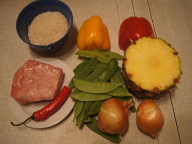 Putenbrustfilet süß sauer mit Curryreis - Rezept - Bild Nr. 3