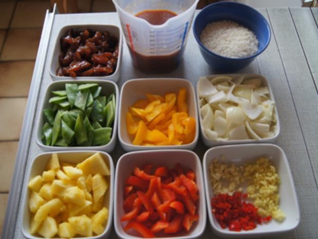 Putenbrustfilet süß sauer mit Curryreis - Rezept - Bild Nr. 7