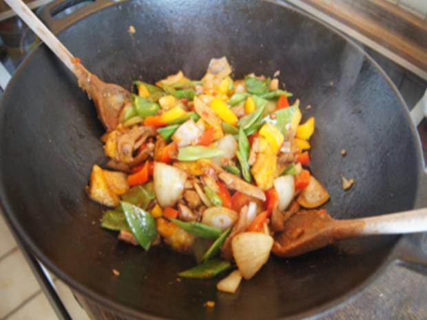 Putenbrustfilet süß sauer mit Curryreis - Rezept - Bild Nr. 13
