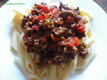 Pasta:   PENNE mit HACKSAUCE - Rezept - Bild Nr. 2