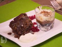 Karamellisierter Dattelkuchen und kalter Käsekuchen - Rezept - Bild Nr. 3