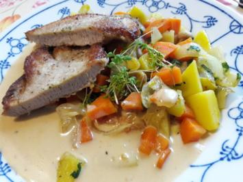 Schnitzel auf Gemüsebett - Rezept - Bild Nr. 2