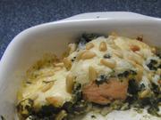 Spinat-Feta-Auflauf mit Lachs - Rezept - Bild Nr. 2