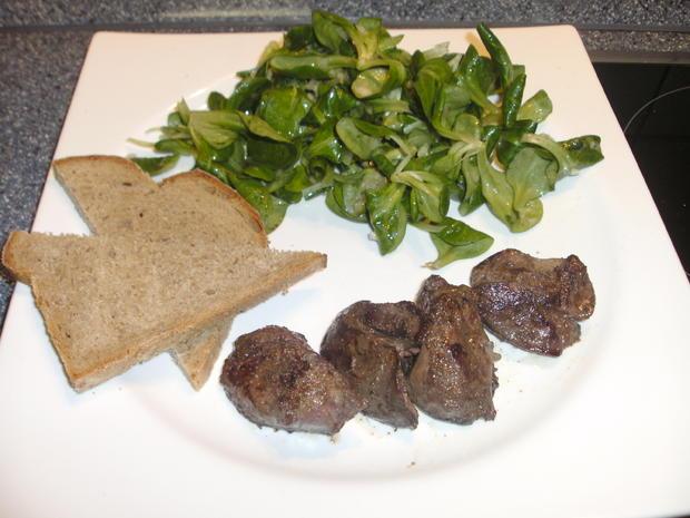 Putenleber mit Feldsalat - Rezept - Bild Nr. 2