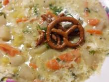 Kohlrabi-Eintopf mit Käse und Brezel - Rezept - Bild Nr. 2