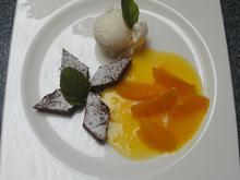 Schokotarte, Joghurteis und marinierte Orangen - Rezept - Bild Nr. 2
