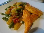 Indisches Kartoffel-Bohnen-Curry mit Tandoori-Chicken - Rezept - Bild Nr. 10038