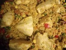 Paela mit Hähnchen und Kritharaki Nudeln - Rezept - Bild Nr. 2