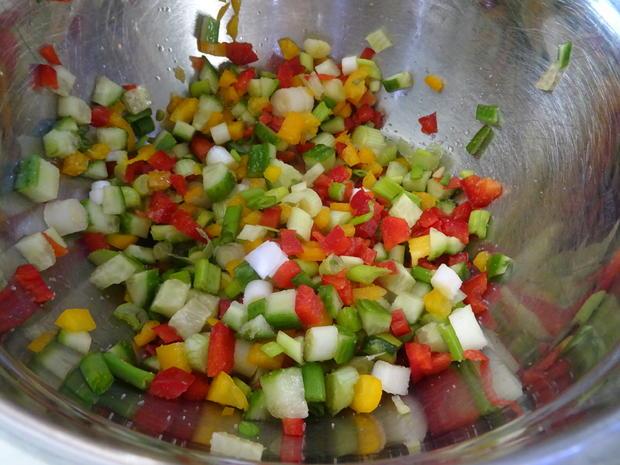 """Paprika-Kartoffelsalat """"leicht spicy"""" mit Puten-Schaschlik - Rezept - Bild Nr. 6"""