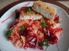 Gebackener Sesam-Feta auf Salat - Rezept - Bild Nr. 10031