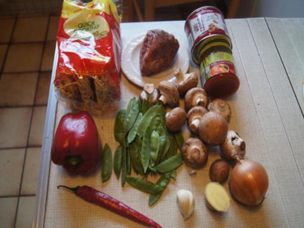 Rindfleischcurry mit Gemüsemix und Mie-Nudeln - Rezept - Bild Nr. 3