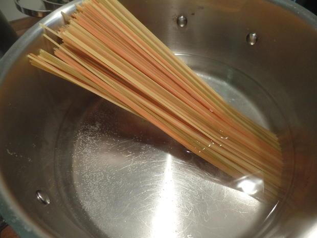 Spaghetti-Tricolore mit Möhrensauce - Rezept - Bild Nr. 10057