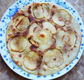 Himmlisch zarte Apfelpfannekuchen mit Kokosteig - Rezept - Bild Nr. 2