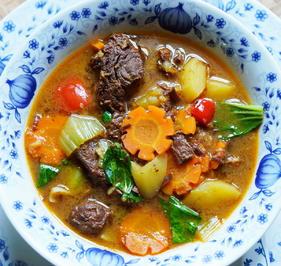 Exotisch-würzige Rindfleischsuppe mit Gemüse - Rezept - Bild Nr. 2