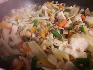 Gemüse-Hackfleisch-Pfanne - Rezept - Bild Nr. 10098