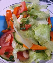 Frühlingssalat mit Garnelen - Rezept - Bild Nr. 2