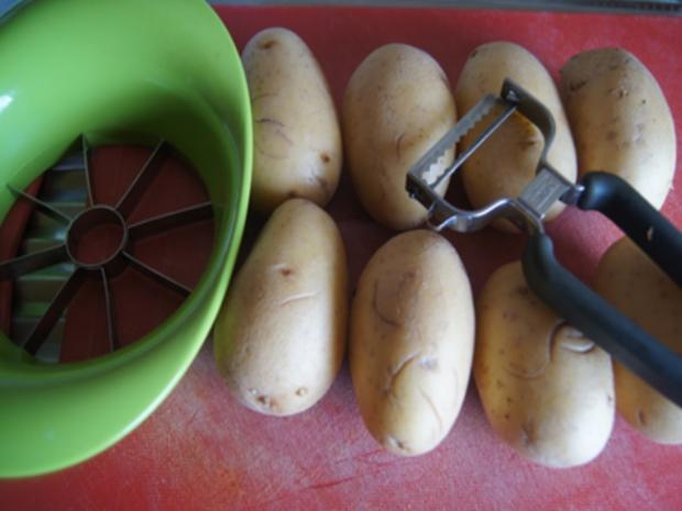 Gekochte Eier mit Senfsauce, Rote Bete Salat und Kartoffelpilzduo - Rezept - Bild Nr. 8