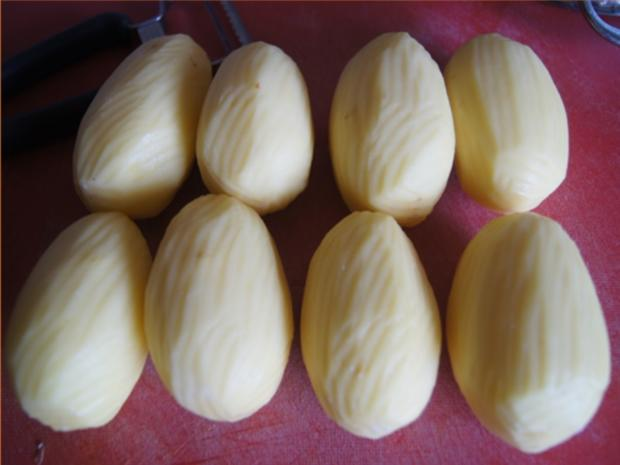 Gekochte Eier mit Senfsauce, Rote Bete Salat und Kartoffelpilzduo - Rezept - Bild Nr. 9