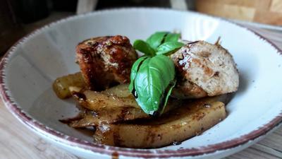 Schweinefilet mit Gemüse - Pommes - Rezept - Bild Nr. 2