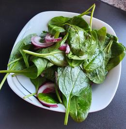 Salat mitt Blattspinat - Rezept - Bild Nr. 2