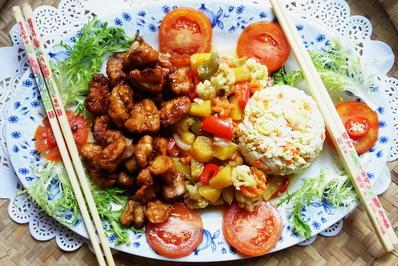 Rezept: Schweinefiletstücke mit süß-saurem Gemüse