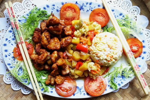 Schweinefiletstücke mit süß-saurem Gemüse - Rezept - Bild Nr. 2