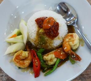 Garnelen in süß-saurer Sauce mit Reis - Rezept - Bild Nr. 2
