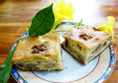 Gedeckter Apfelkuchen mit Walnüssen und Kokosraspeln - Rezept - Bild Nr. 2
