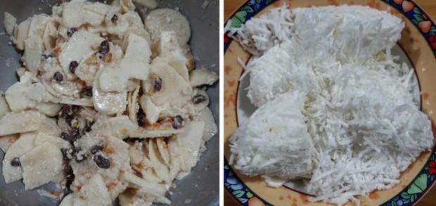 Gedeckter Apfelkuchen mit Walnüssen und Kokosraspeln - Rezept - Bild Nr. 7