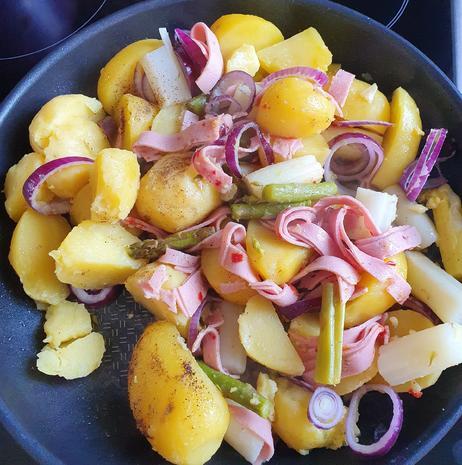 Spargel-Kartoffel-Pfanne - Rezept - Bild Nr. 3