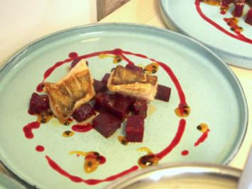 Zanderfilet mit roter Bete, Passionsfrucht und Joghurt - Rezept - Bild Nr. 2