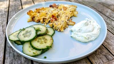 Bauernpfannkuchen mit Kräuterquark - Rezept - Bild Nr. 2