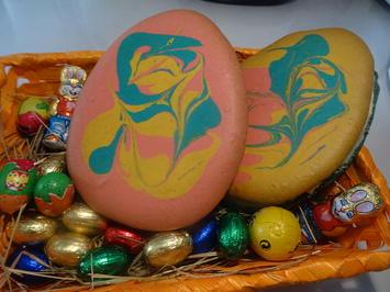 Macaron-Ostereier XXL mit Vanille-Creme-Füllung - Rezept - Bild Nr. 2