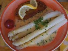 Spargel mit Wiener Schnitzel vom Schwein und Zitronen Sauce - Rezept - Bild Nr. 2